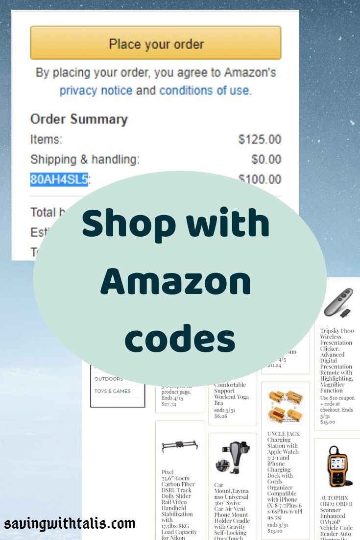 Amazon how to shop with promo codes saving with talis