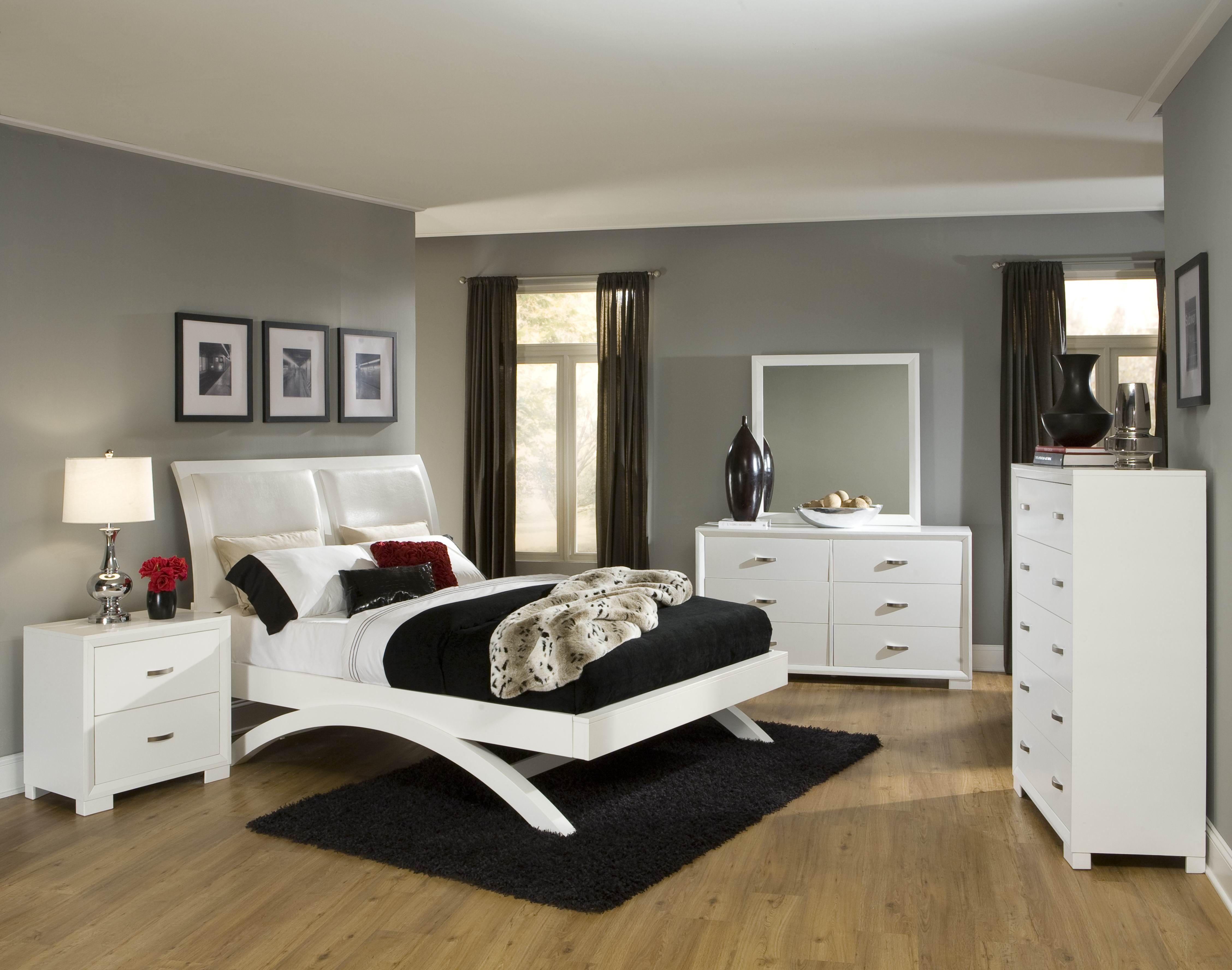 Contemporary White Bedroom Platform Bedroom Sets Cheap Queen