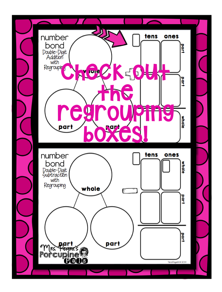 Math Mats For Addition And Subtraction With Regrouping Perfect For Those Students Who Need A Space For Everything Math Mats Math Resource Classroom [ 1125 x 854 Pixel ]