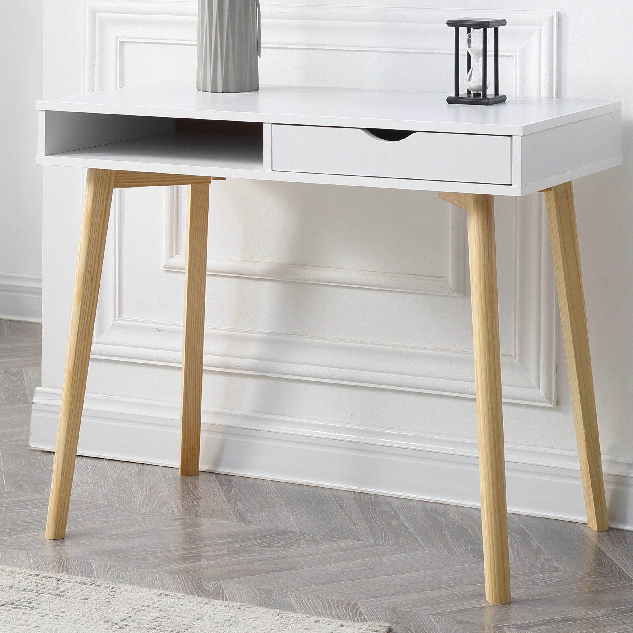 Carter Writing Desk In 2020 Desks For Small Spaces Desk With Drawers Writing Desk