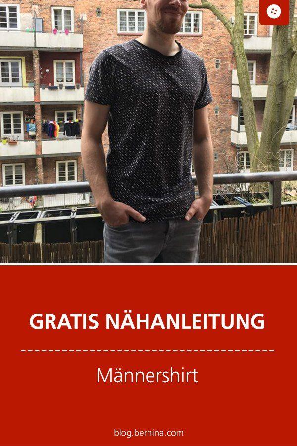 Anleitung für ein Männershirt mit Schnittmuster in Grösse M/L