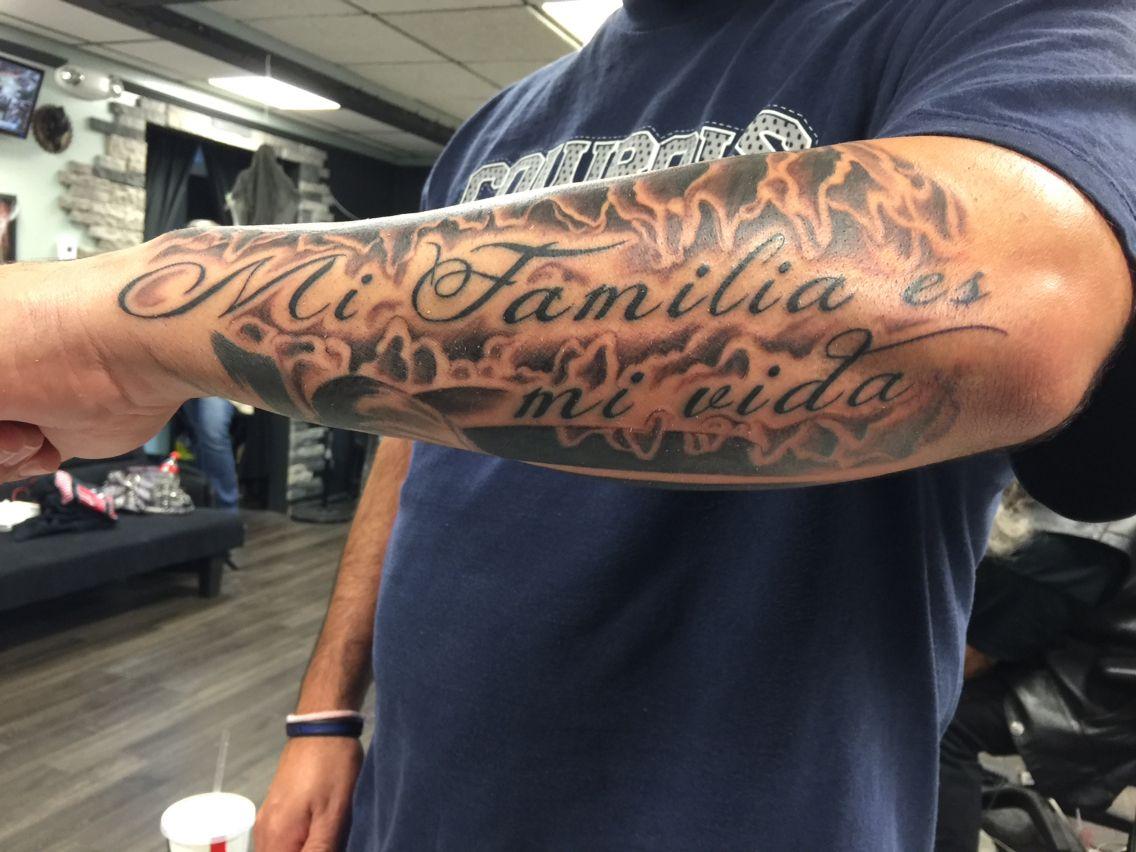 Mi Familia Es Mi Vida My Family Is My Life Family Tattoo