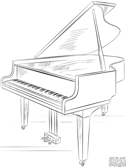 How To Draw A Grand Piano Step By Step Drawing Tutorials Warmup