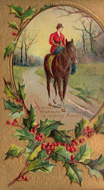 Christmas Card 1912 Love The Vintage And The Horse