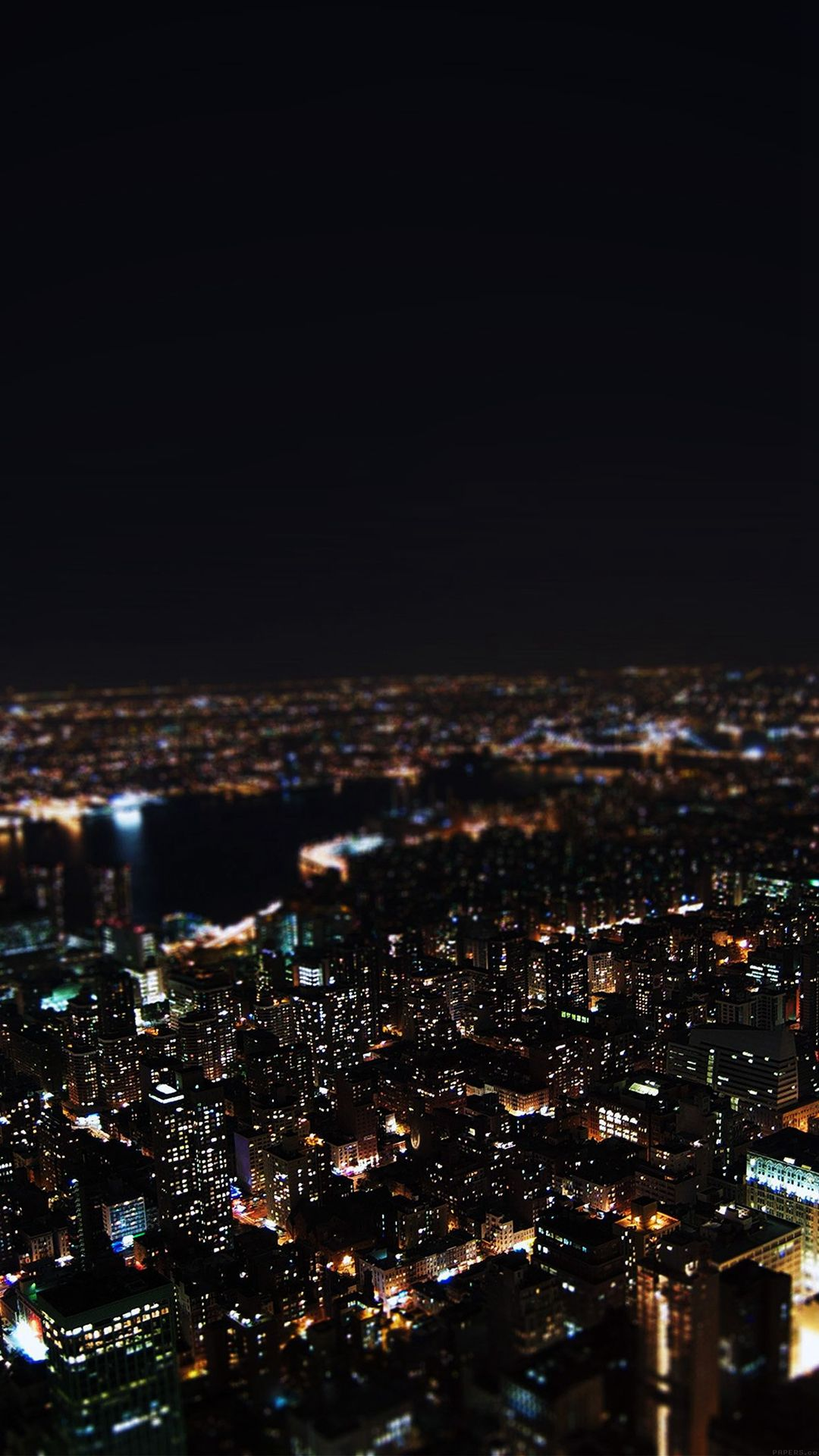 Dark Night City Building Skyview iPhone 6 wallpaper in