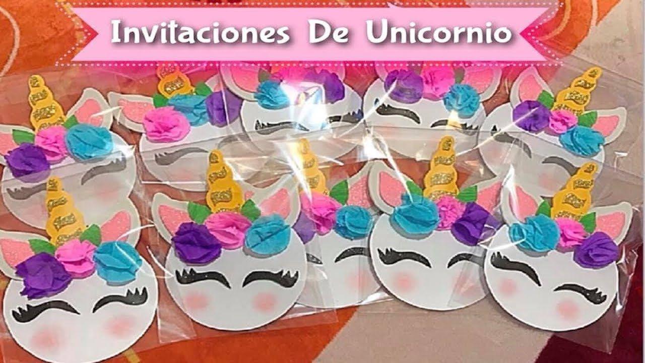 Como Hacer Invitaciones De Unicornio Invitacion De