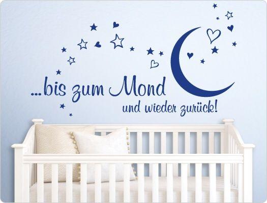 Wandtattoo Kinderzimmer Bis Zum Mond Und Wieder Zuruck Jungen
