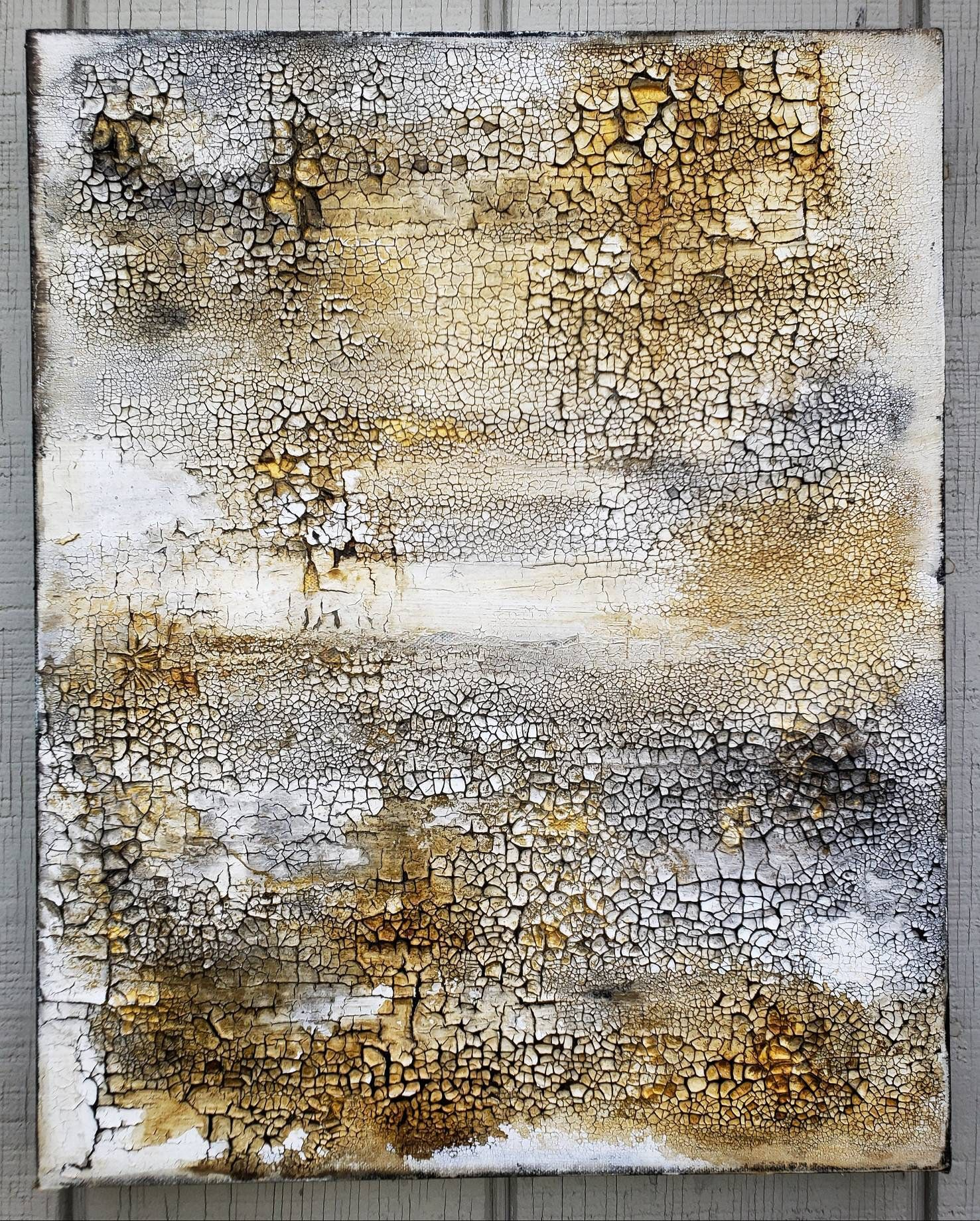 Rustic Canvas Wall Art.Original Abstract Texture Painting By Amy Neal 20 X 24