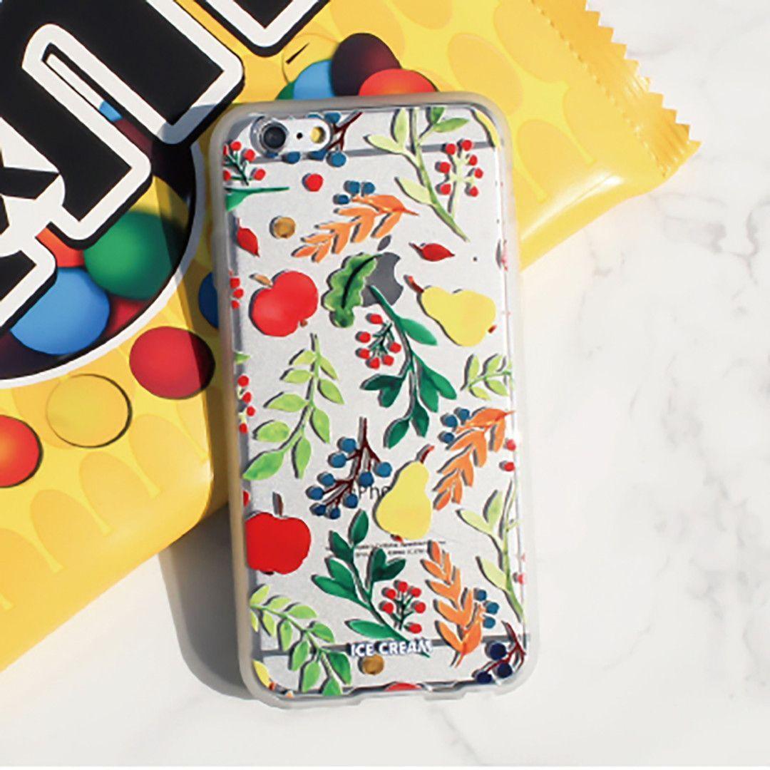 Soft Jelly Clear Design Phone Case - Fruit Festival