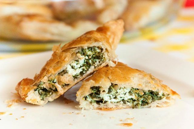 Recept: Spinazie feta bladerdeeg hapjes