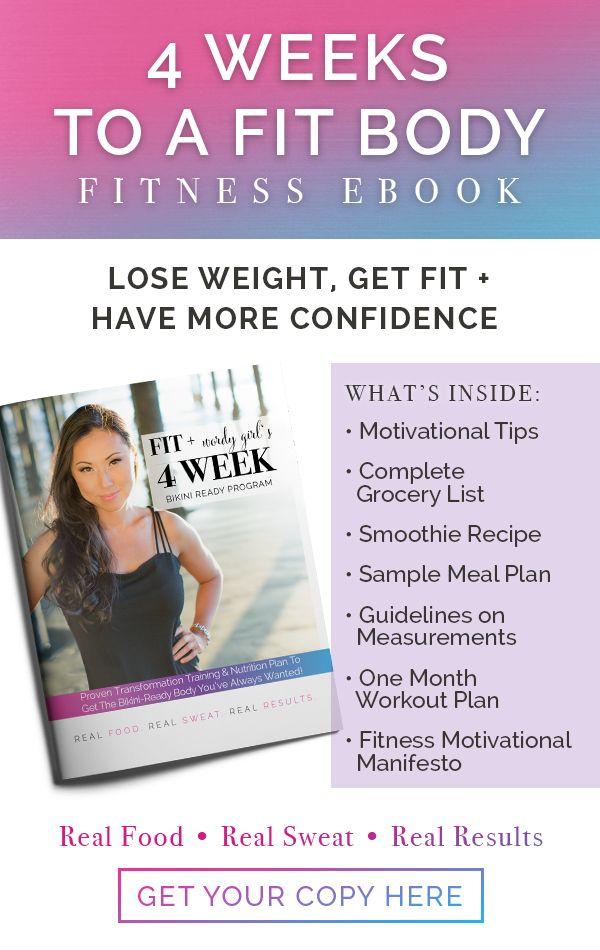 Bikini Body 4 Week Planner, Weight-loss, nutrition plan, grocery - grocery list sample