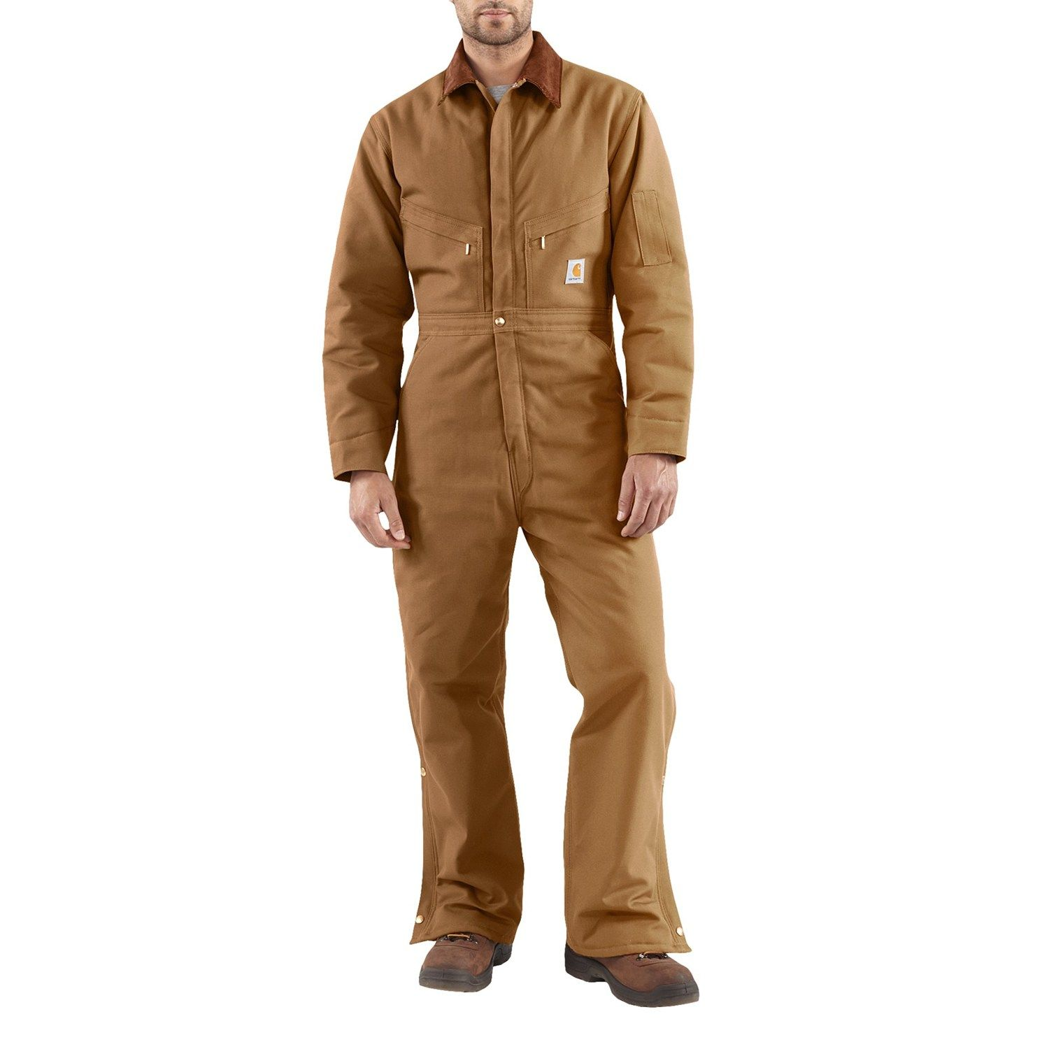 carhartt x01 quilt lined duck coveralls insulated on insulated overalls for men id=28704