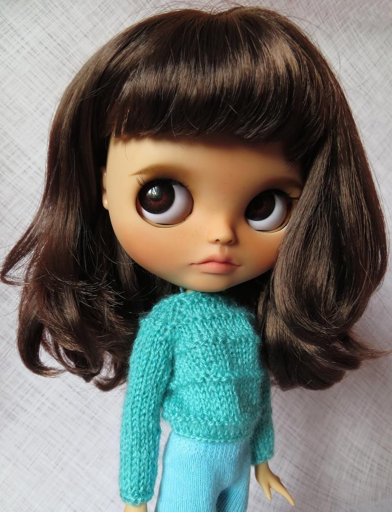 Benutzerdefinierte Blythe Puppe OOAK Fabrik Blythe braunes Haar mit Pony Geschenk für Mädc Benutzerdefinierte Blythe Puppe OOAK Fabrik Blythe braunes Haar mit P...