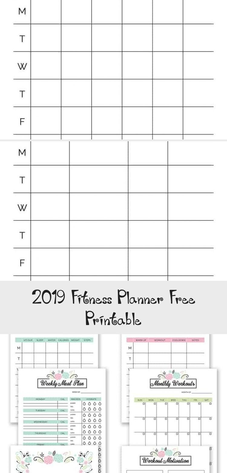 2019 Fitness Planner Free Printable - Weight Loss -  2019 Fitness Planner Free Printable – Organize...