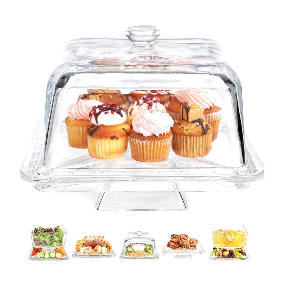 Home Essentials Square 6 In1 Cake Stand Serving Platter Stands