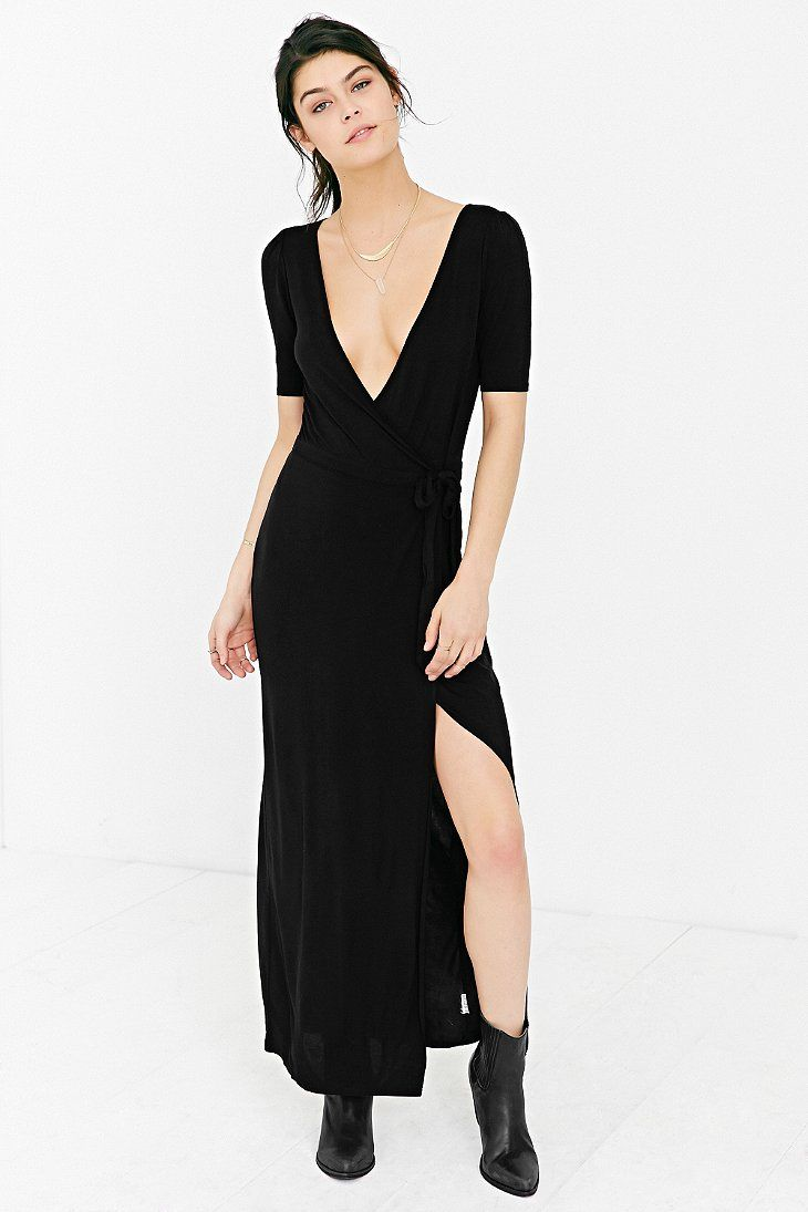 Ecote Wrap Maxi Dress Maxi Wrap Dress Black Maxi Wrap Dress Urban Dresses [ 1095 x 730 Pixel ]