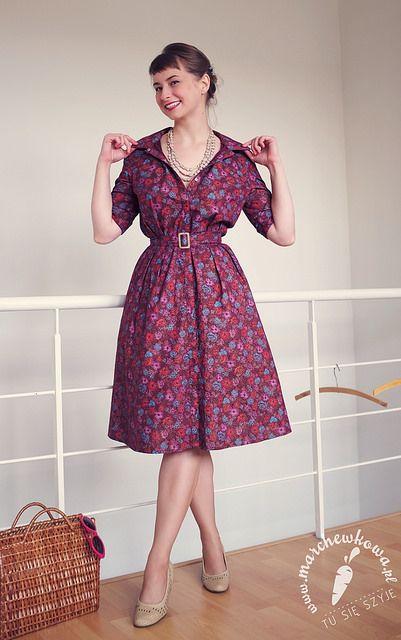 Shirtwaist dress: made by me Pattern: #3 E, Burda Easy 1/