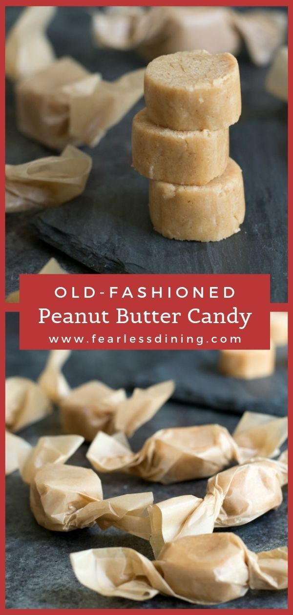 EASY 2 Ingredient Old-Time Peanut Butter Candy - Fearless Dining