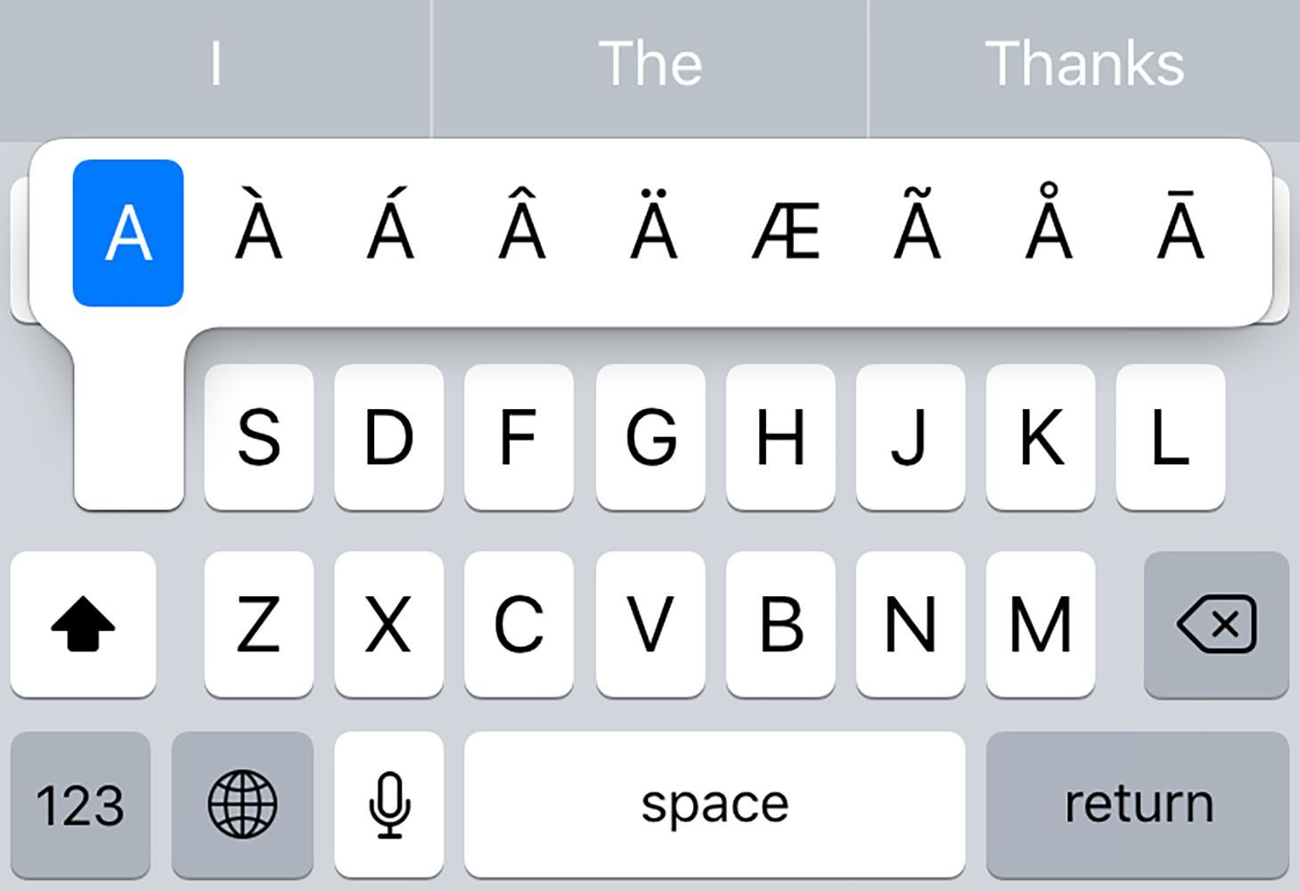 How to add french spanish and other accents on iphone
