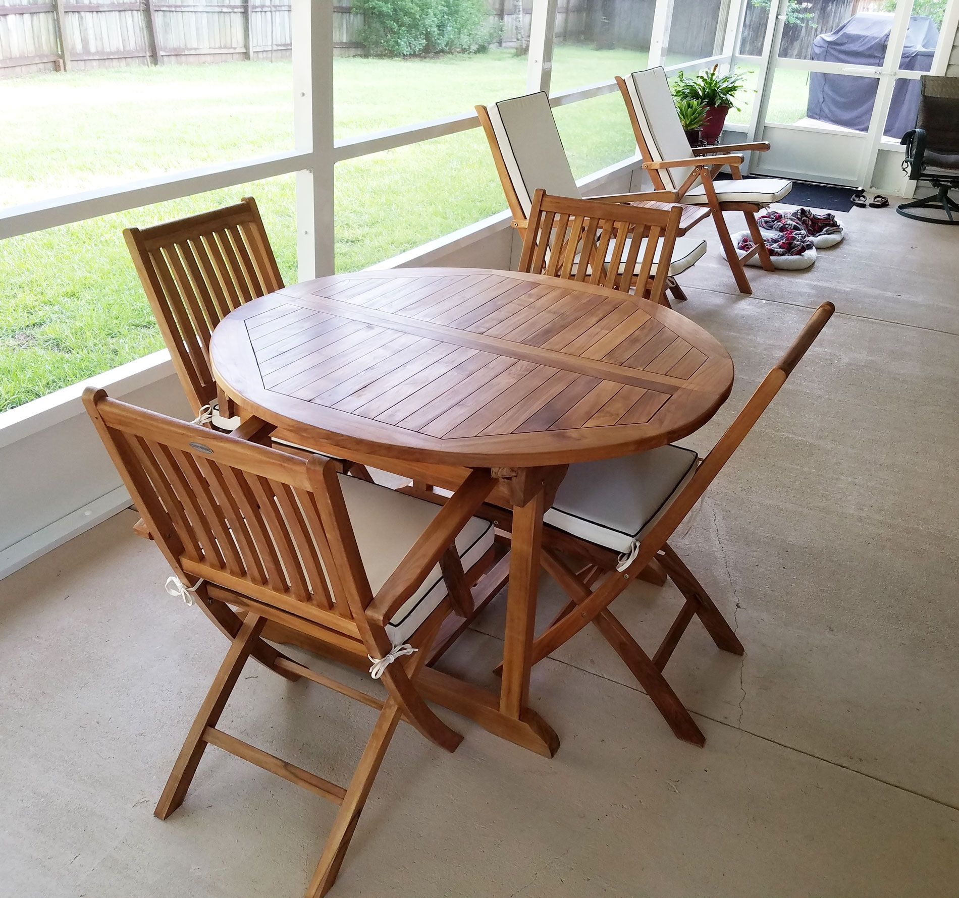 Teak Wood Orleans Round To Oval Extension Table By Chic Teak Only