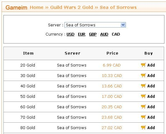 http://www.gameim.com/GW2/Sea_of_Sorrows/Gold.html
