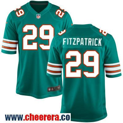 Men's Miami Dolphins #29 Minkah Fitzpatrick Aqua Green Alternate  for sale