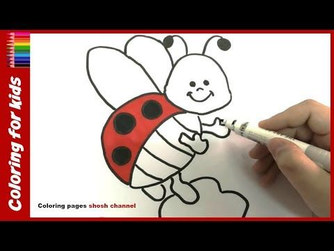 coloring pages for toddlers : How to draw and color simple ladybug ...