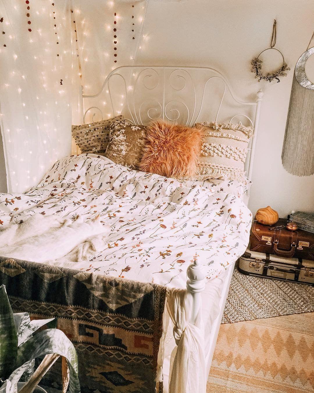 Pressed Flowers Duvet Cover Set Aesthetic bedroom