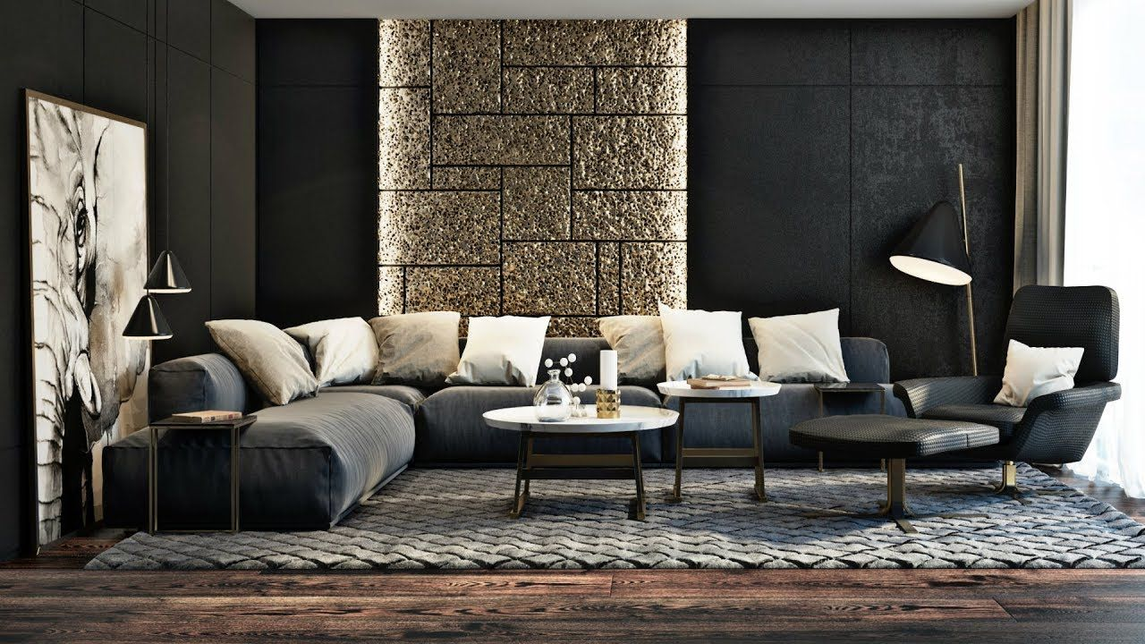 Modern Interior Living Room Design Ideas in 6  Accent walls in