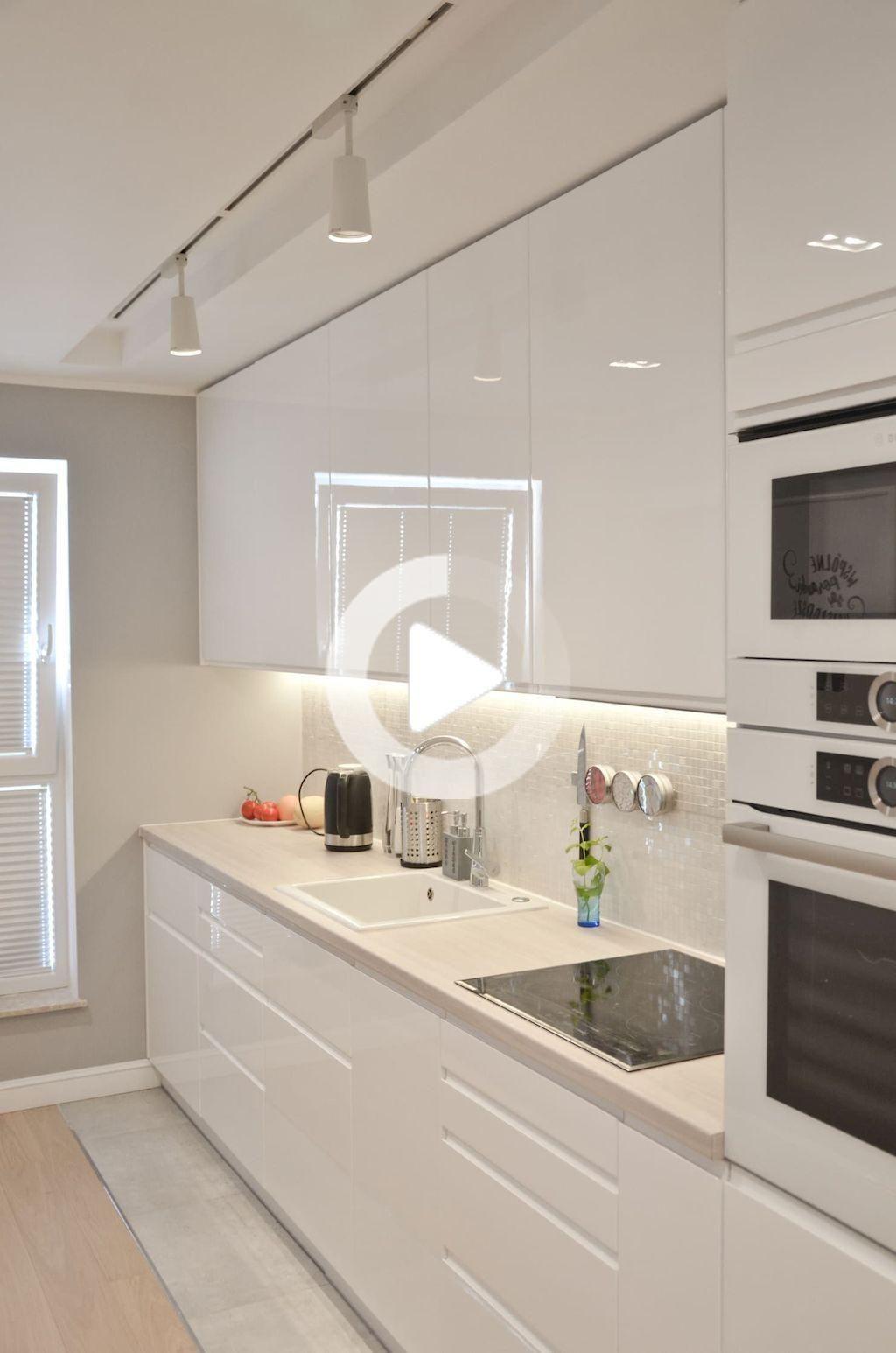 80 Ideas Blanco Imponente Del Gabinete De Cocina De Cambio De Imagen In 2020 Modern Kitchen Design White Modern Kitchen Luxury Kitchen Design
