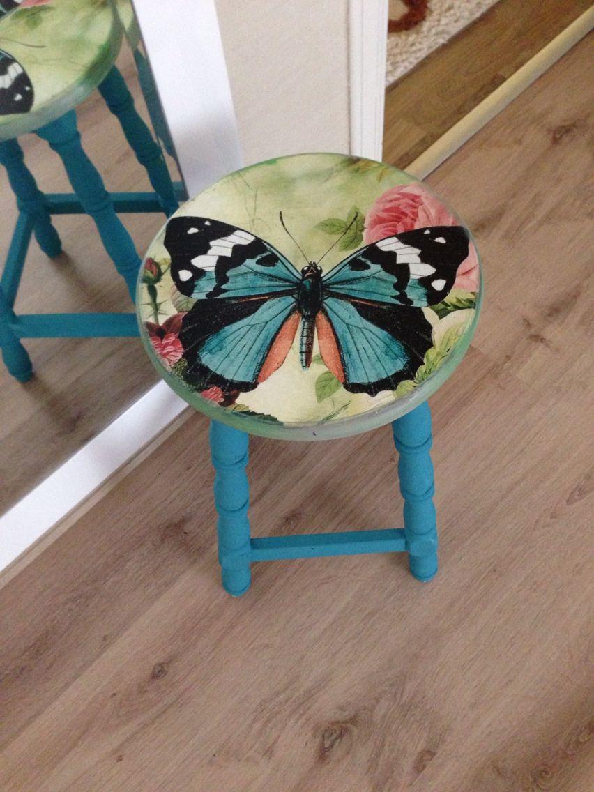 Kelebekli tabure_stool #stoelen