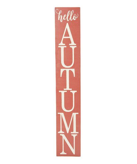 Saras Signs Barn Red Hello Autumn/Merry Christmas Double-Sided Wall Sign | Zulily #helloautumn