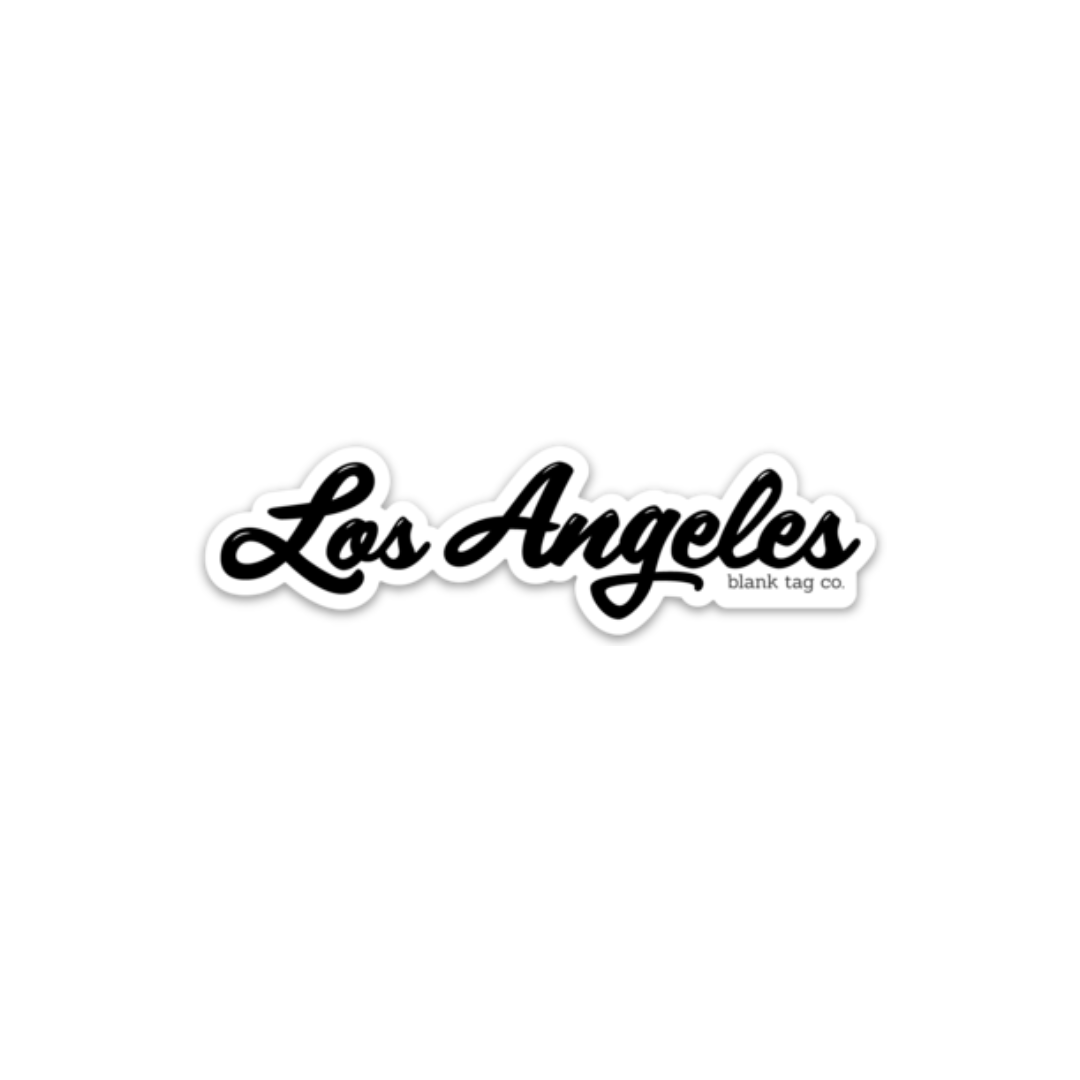 The Los Angeles Sticker Travel Stickers Aesthetic Stickers Black Stickers