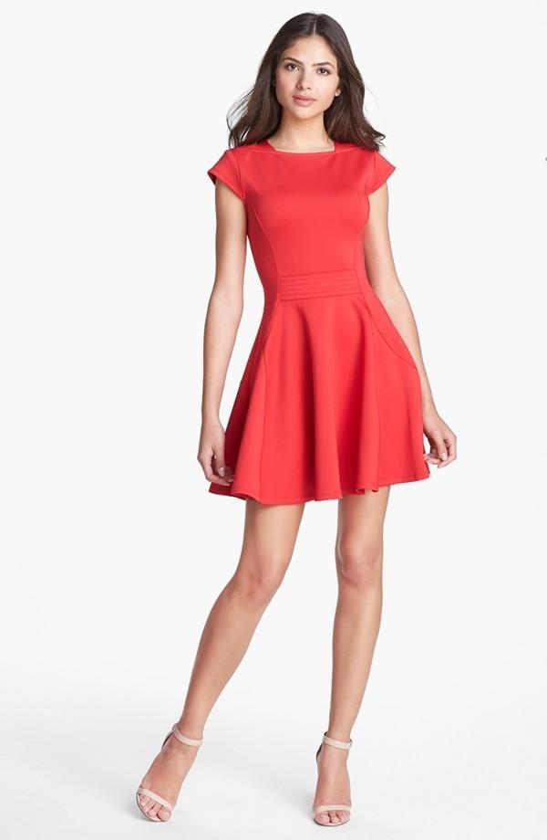 42573ea0696228 Fun! Ted Baker London Red Skater Dress