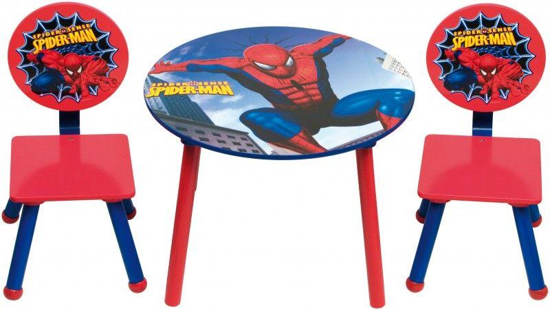 Set tavolo 2 sedie spiderman tavoli sedie complementi d 39 arredo in legno camera da - Complementi d arredo camera da letto ...