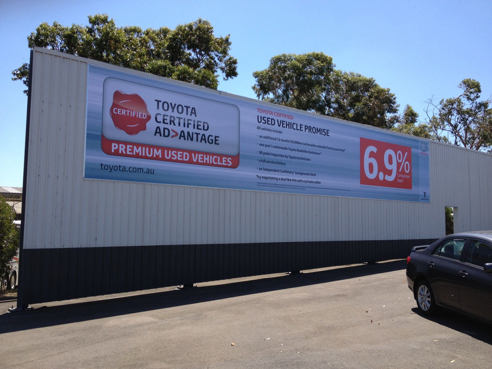 Toyota Large Format Digitally Printed Banner by Sign
