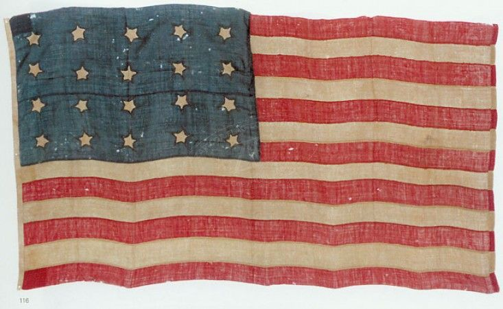 20 Star Us Flag 1818 3rd Official U S Flag Flag History Flag Decor