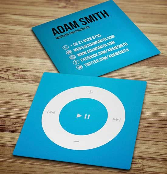 Mini square business cards for musicians business card pinterest mini square business cards for musicians reheart Images