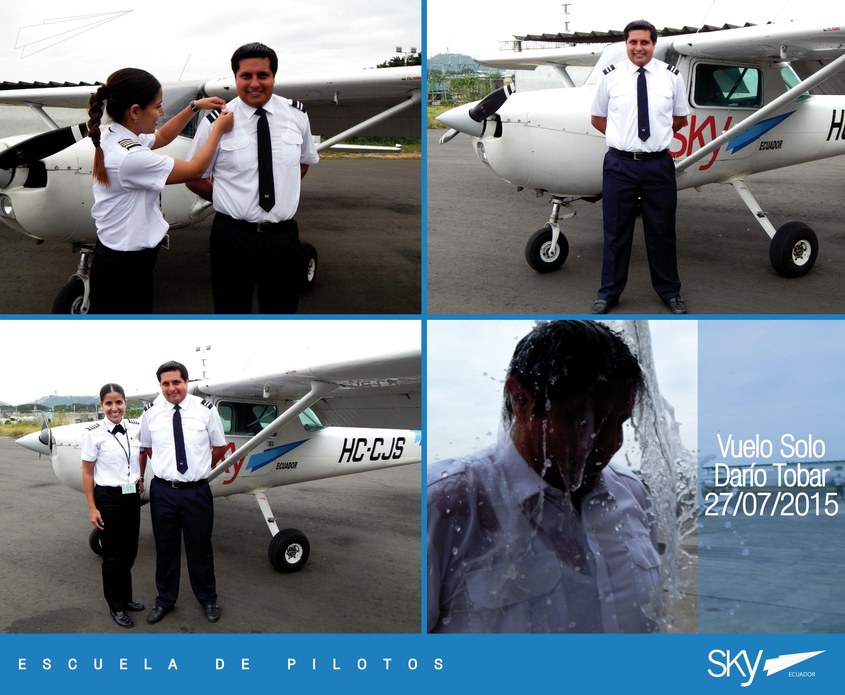 Felicitamos a nuestro Alumno Darío Tobar por haber realizado su primer vuelo solo!   Quieres ser #piloto ? Pregúntanos como! info@skyecuador.com 04 600 8250 o ( 0969063172 solo mensajes WhatsApp ) http://goo.gl/H7U4mN