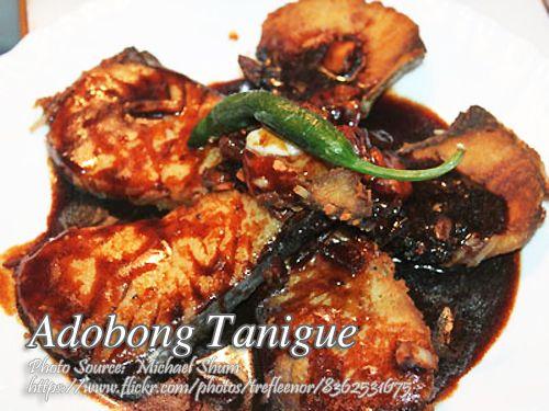 Adobong Tanigue Recipe Panlasang Pinoy Meaty Recipes Recipe Mackerel Recipes Smoked Fish Recipe Fish Recipe Filipino