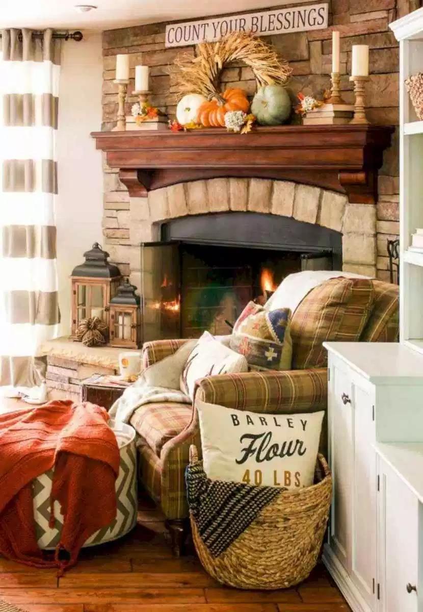 How To Use Baskets To Create Fantastic Fall Decor Decor To Adore Fall Living Room Decor Fall Living Room Beautiful Living Rooms Decor