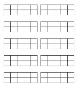 graphic regarding Ten Frame Printable referred to as Mini 10 Body Printables (Blank) Items within just 2019