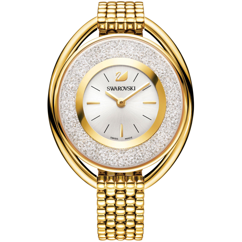 SWAROVSKI Relojes Crystalline Oval Gold Tone Pulsera Watch
