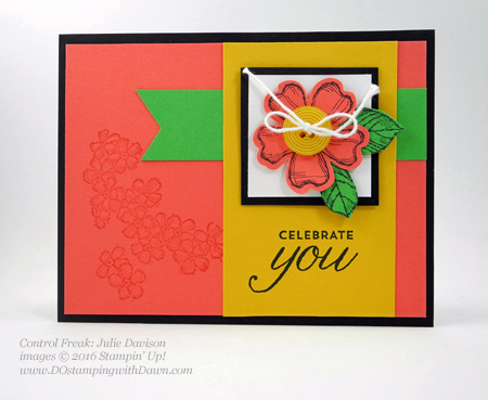 Birthday Blossom & Pansy Punch card swaps shared by Dawn Olchefske #dostamping #stampinup (Julie Davison)
