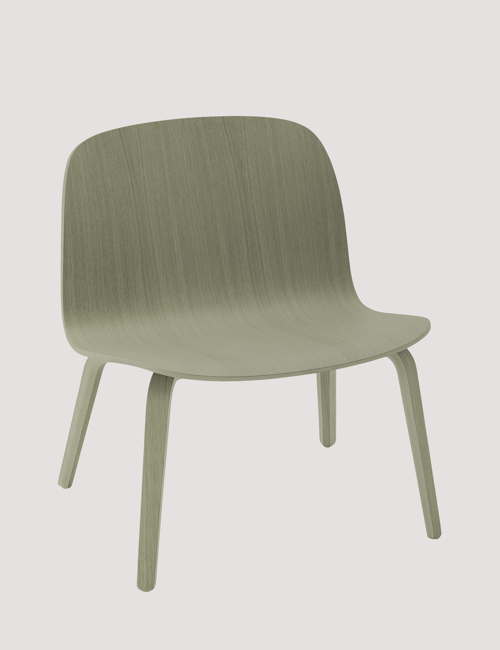 The VISU LOUNGE chair has a timeless and recognizable profile and is designed for lounging in the upmost comfort. Here in the colour dusty green - designed by Mika Tolvanen