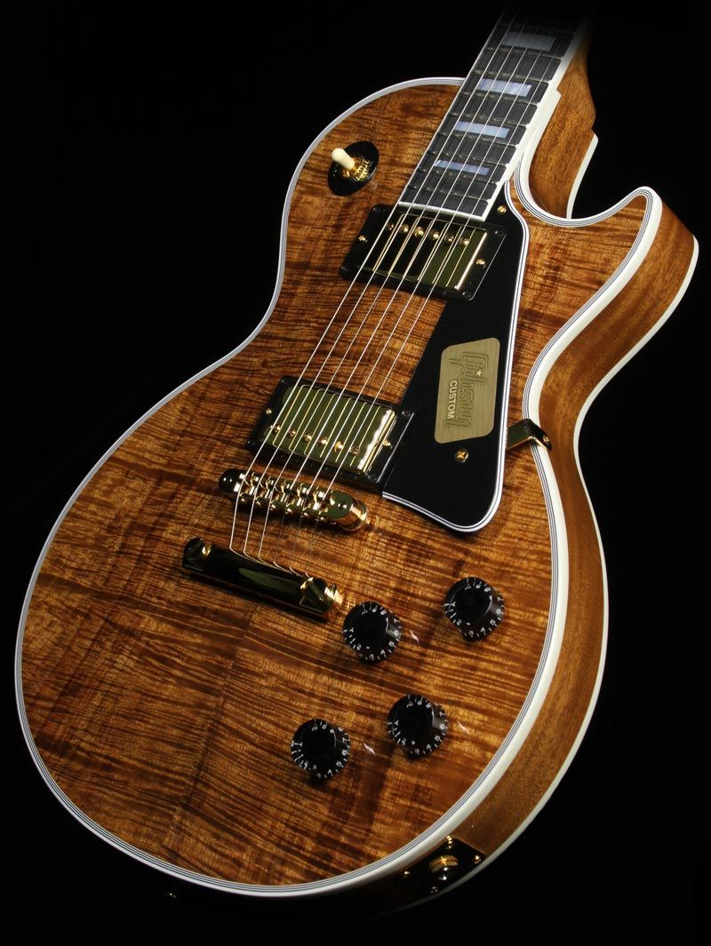gibson custom shop les paul with a natural koa top dream guitars guitar gibson guitars les. Black Bedroom Furniture Sets. Home Design Ideas