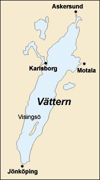 Karte des Vättern
