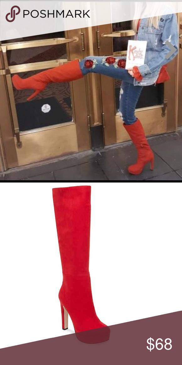 Madden girl Roxette Red Fabric platform