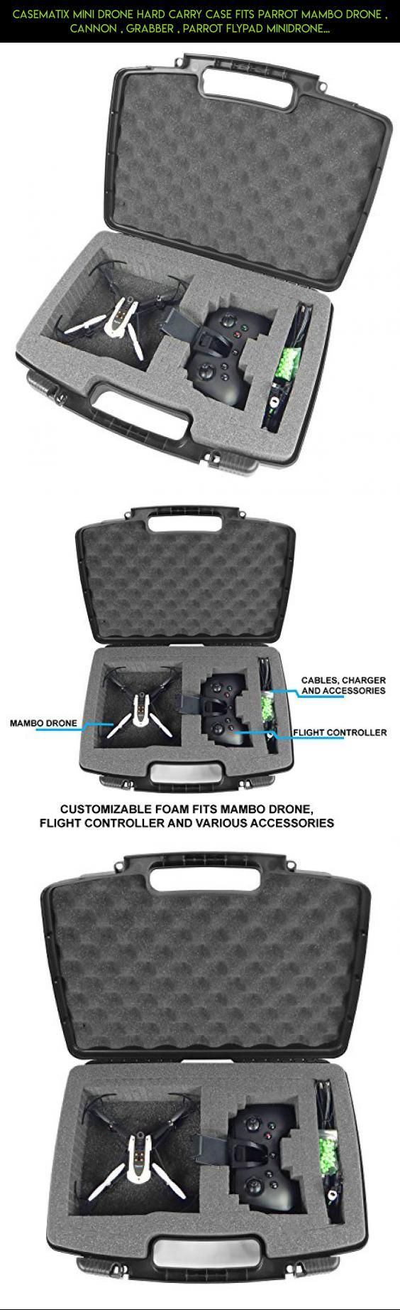 Mini Drone Hard Case Fits Parrot Mambo Drone with Mambo Drone Accessories