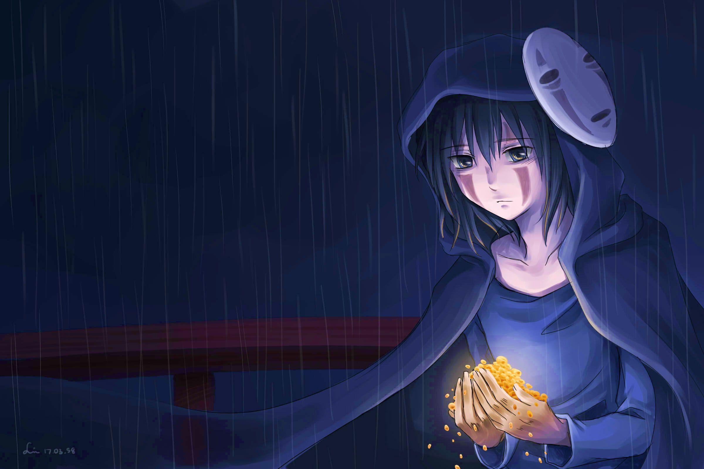 カオナシ 雨の夜 Linin Pixiv Studio Ghibli Anime Ghibli